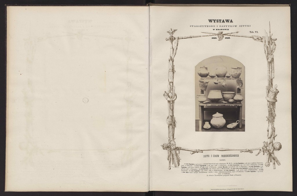 Karol Beyer (1818–1877), Zabytki z czasów przedchrześcijańskich Strona z albumu fotograficznego wystawy starożytności i zabytków sztuki urządzonej przez c.k. Towarzystwo Naukowe w Krakowie w 1858 i 1859 roku