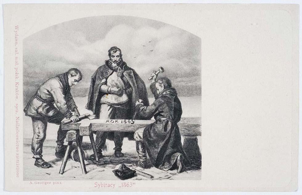 """Sybiracy 1863″, A. Grottger"